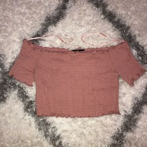 Mauve/ Pink Tube Top With Sleeves